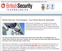 British Security Technologies website